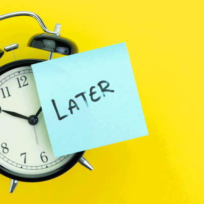 procrastination image